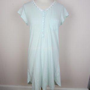 Eileen West Women's S Robins Egg Blue Nightgown S